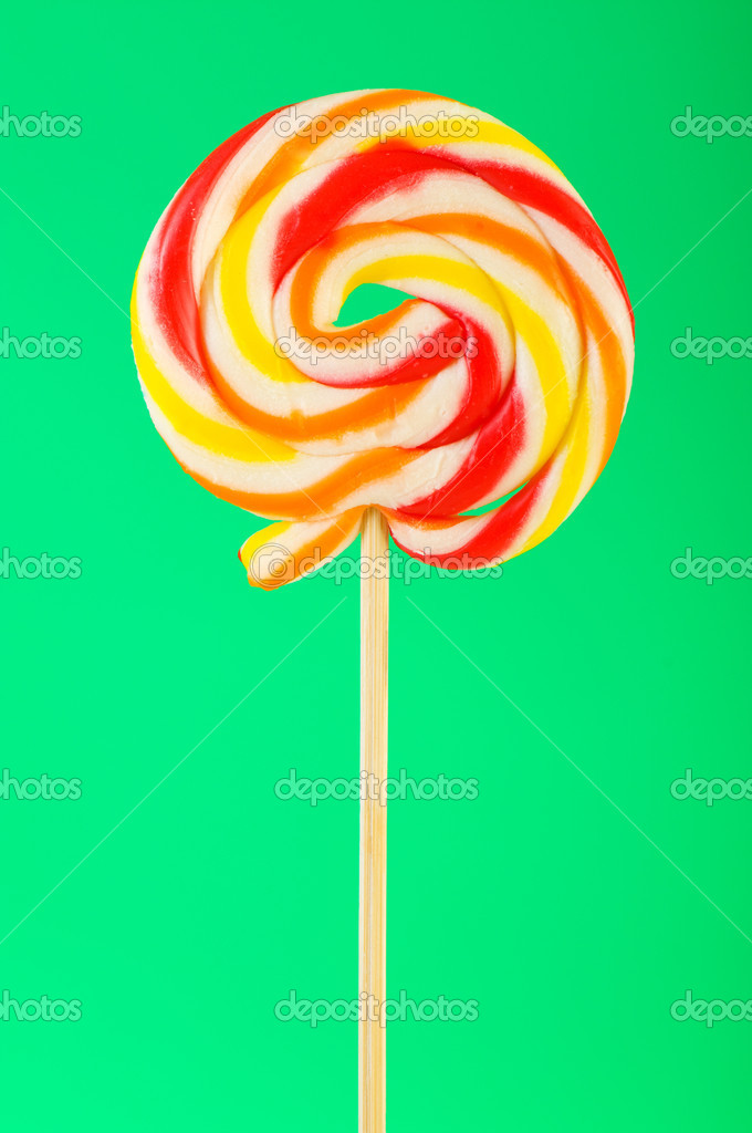 Colourful lollipop against the colourful background — Stock Photo #4480200
