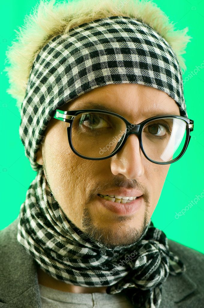 Portrait of a man with glasses — Stock Photo #4507742