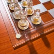 Set of chess figures on the board — Stock Photo #4511048