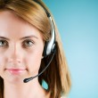 Young call center operator with the headset — Stock Photo #4517728