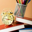 Back to school concept with books and pencils - Foto Stock