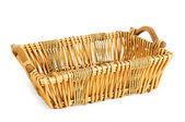 Big basket isolated on the white background — Stock Photo