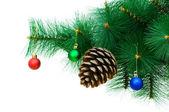 Decorazione di natale sull'albero — Foto Stock