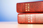 Bible books against the colorful gradient background — Stock Photo