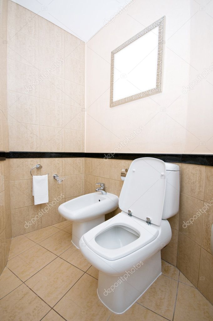 Toilet in the bathroom   Stock Photo #4510340
