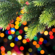 Stock Photo: Christmas decoration and blurred lights at background