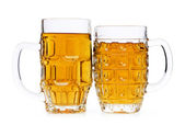 Beer glasses isolated on the white background — Stock Photo