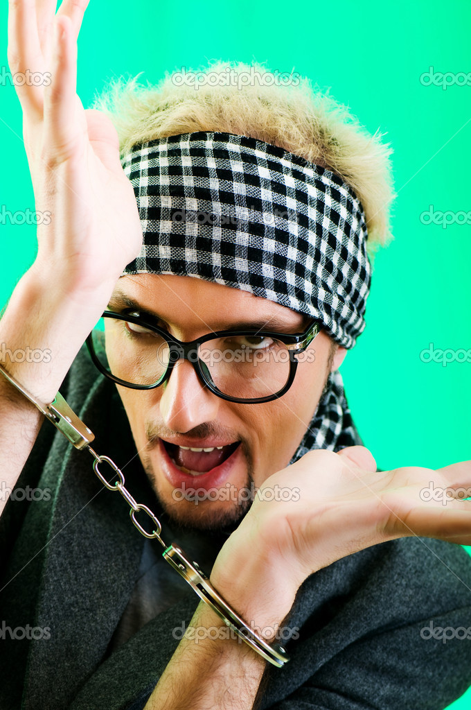 Man with glasses in studio shooting  Stock Photo #4522926