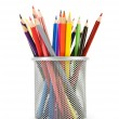 Various colour pencils isolated on the white — Stock Photo #4530298
