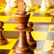 Set of chess figures on the playing board — Stock Photo #4531857