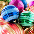 Colourful christmas decoration on a shiny background — Stock Photo #4536434