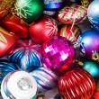 Colourful christmas decoration on a shiny background — Stock Photo #4536459