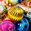 Colourful christmas decoration on a shiny background — Stock Photo #4536460