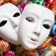 Royalty-Free Stock Photo: Theatre concept with the white plastic masks