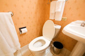 Interior of the room - Toilet in the bathroom — Stock Photo