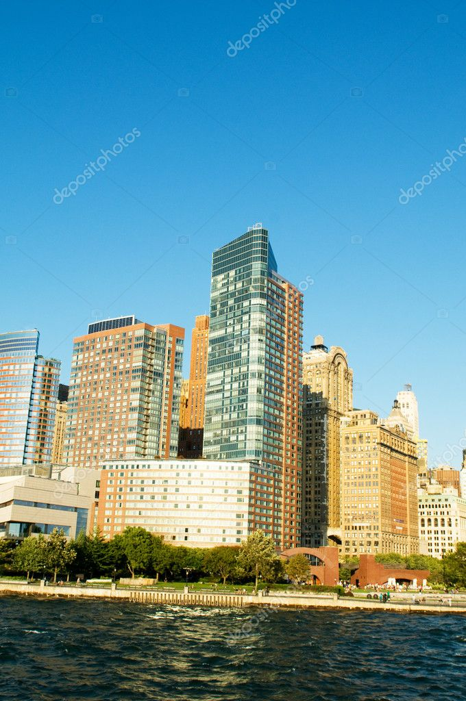 New York city panorama with tall skyscrapers — Stock Photo #4535303