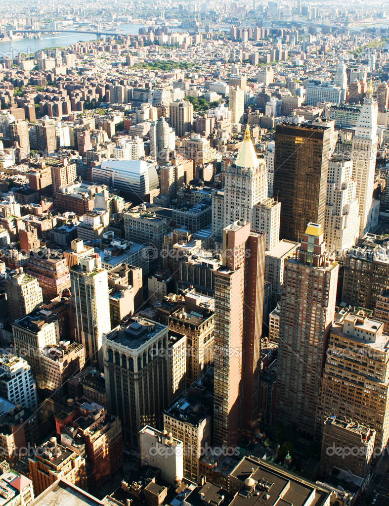 New York city panorama with tall skyscrapers  Stock Photo #4535501