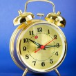 Stock Photo: Time concept - alarm clock against colorful background