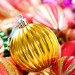 Colourful christmas decoration on a shiny background — Stock Photo #4542900