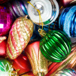 Colourful christmas decoration on a shiny background — Stock Photo #4542917