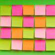 Reminder notes on the bright colorful paper — Stock Photo #4543890