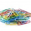 Close up of many colourful paper clips — Stock Photo #4547231