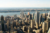 New York city panorama with tall skyscrapers — Stock fotografie
