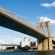 Brooklyn bridge in New York on bright summer day — Stock Photo #4553862