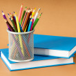 Back to school concept with books and pencils — Stock Photo #4558592