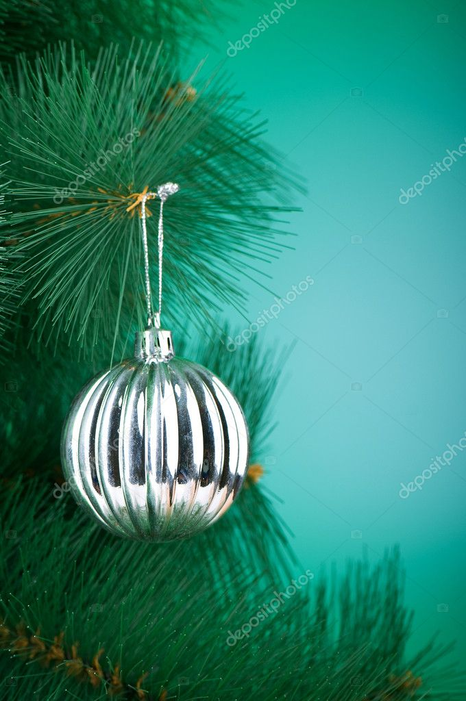 Christmas decoration on the tree - holiday concept — Stock Photo #4553911