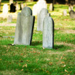 Cemetery with many tombstones on the bright day — Stock Photo #4562474