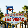 Stock Photo: famous las vegas sign on bright sunny day