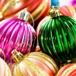 Colourful christmas decoration on a shiny background — Stock Photo #4563065