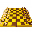 Chess figures isolated on the white background — Stock Photo #4566902