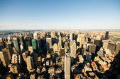 New York city panorama with tall skyscrapers — Stockfoto