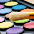 Stock Photo: Art concept with painters palette and paint brush
