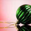 Royalty-Free Stock Photo: Christmas decoration on the reflective background - holiday conc