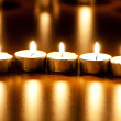 Many burning candles with shallow depth of field — Stock Photo #4581076
