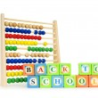 Alphabet blocks and abacus isolated on white — Stock Photo #4582104