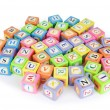 Learning and education concept - pile of alphabet blocks - Photo