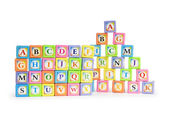 Back to schol concept with alphabet blocks — Stock Photo