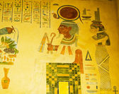 Egyptian concept with paintings on the wall — Stock Photo