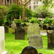 Cemetery with many tombstones on the bright day - Foto de Stock