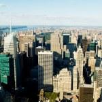 panorama de la ciudad de nueva york con altos rascacielos — Foto de Stock   #4600940