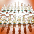 Set of chess figures on the playing board — Stock Photo #4601096