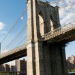 Brooklyn bridge in New York on bright summer day — Stock Photo #4603512