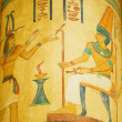 Egyptian concept with paintings on the wall — Zdjęcie stockowe #4606611