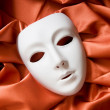 Theatre concept with the white plastic masks — Stock Photo #4607625