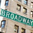 Famous broadway street signs in downtown New York — Stock Photo #4609132