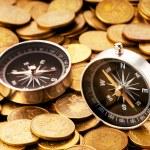 concepto financiero - navegar en tiempos difíciles para los mercados — Foto de Stock